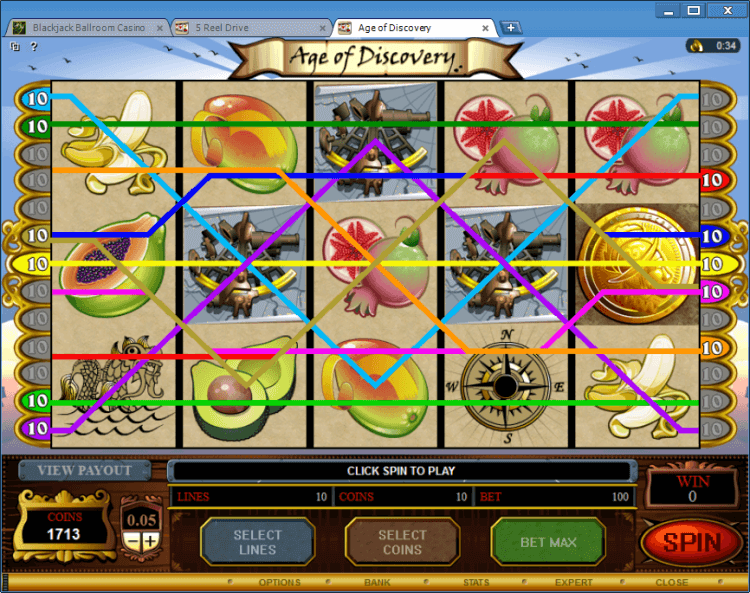 Age of Discovery bonus slot online