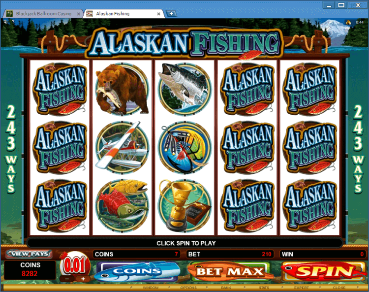 Alaskan Fishing BlackJack Ballroom online casino