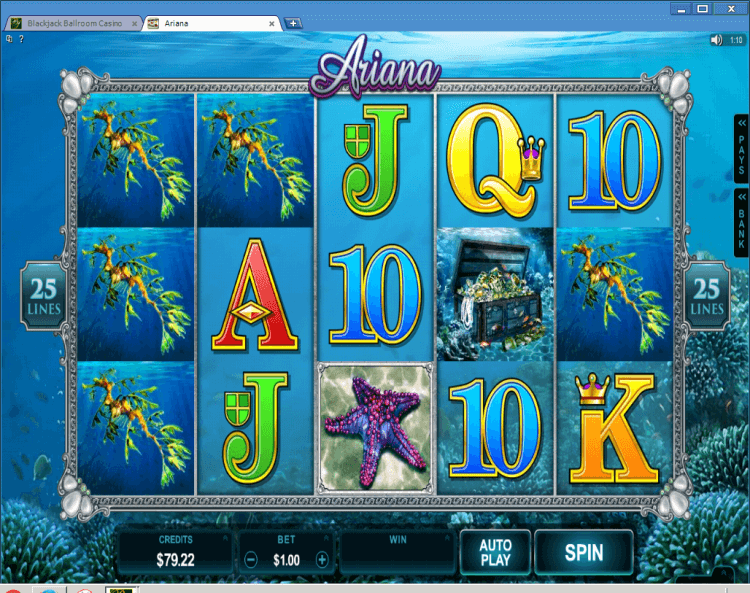 Ariana bonus slot game BlackJack Ballroom