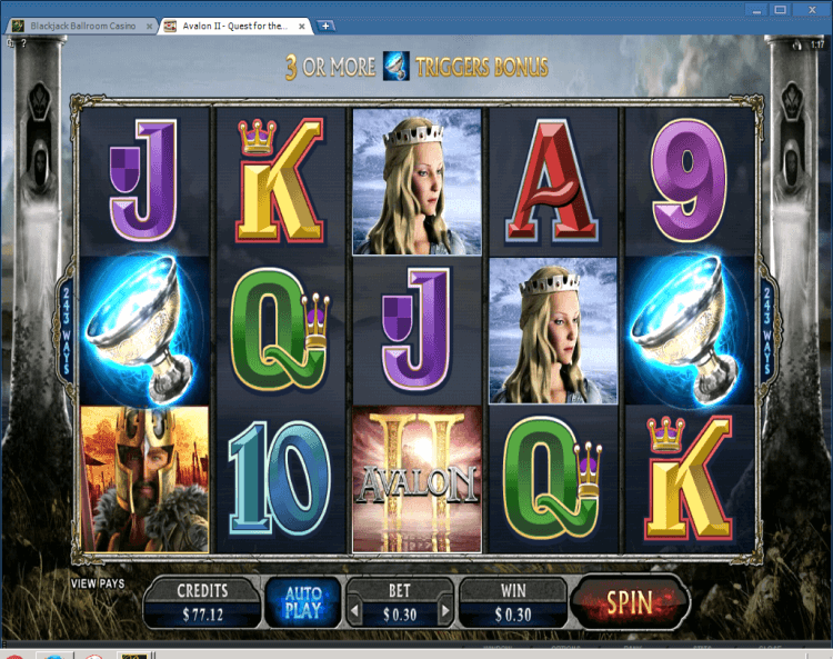 Avalon II slot BlackJack Ballroom application