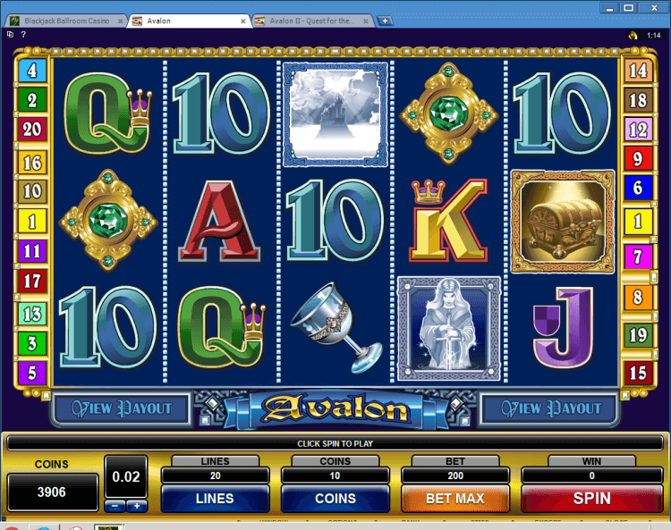 Avalon Multi-Player slots online casino Ballroom
