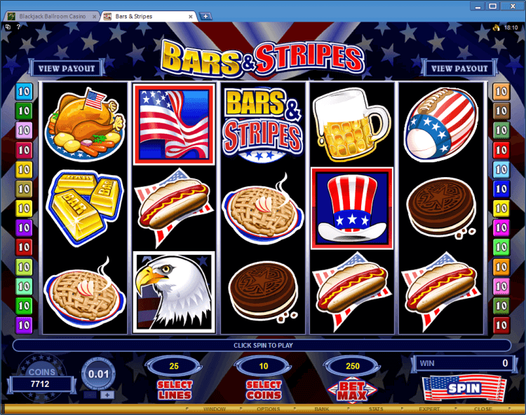 Bars & Stripes bonus slot BlackJack Ballroom