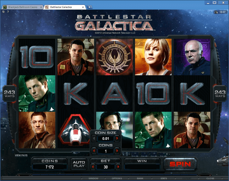 Battlestar Galactica BlackJack Ballroom online casino
