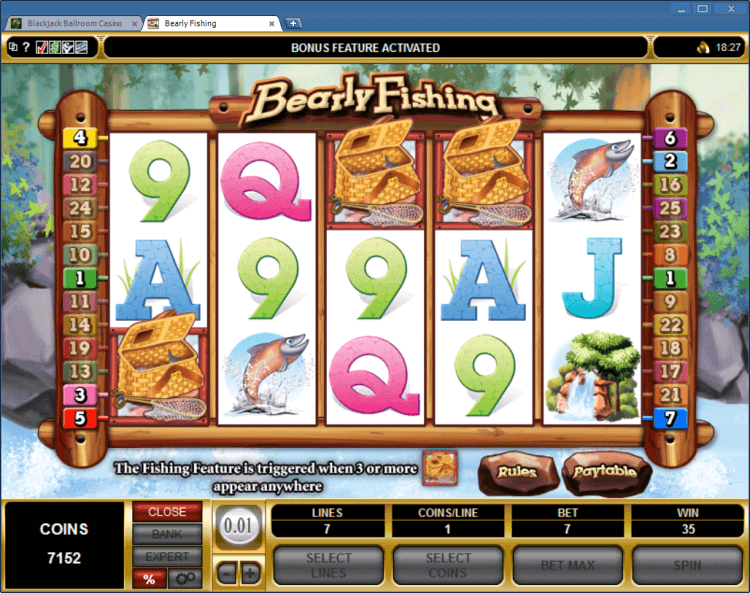 Bearly Fishing slot BlackJack Ballroom casino