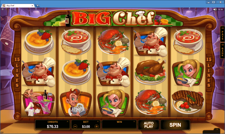 Big Chef bonus slot online casino Ballroom