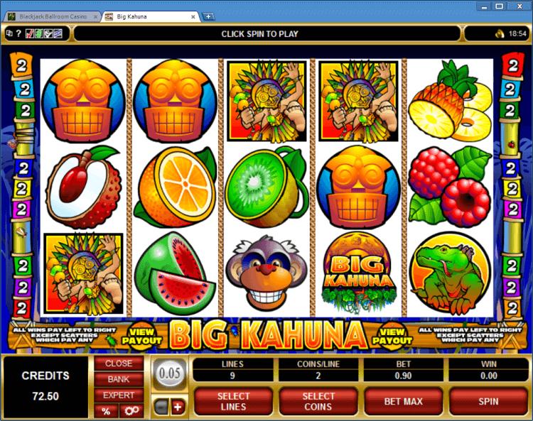 Big Kahuna bonus slots Ballroom BlackJack online