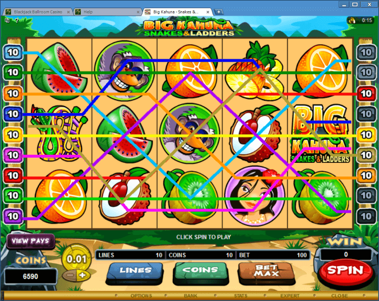 Big Kahuna – Snakes and Ladders bonus slot casino Ballroom