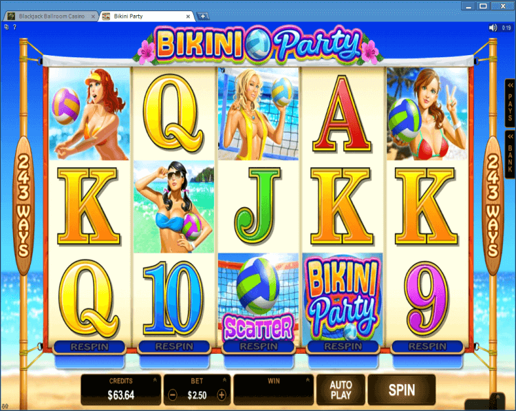 Bikini Party regular video slot online casino