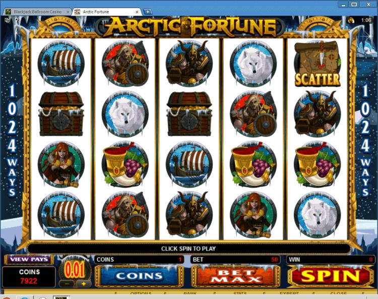 Bonus Slot Arctic Fortune BlackJack Ballroom