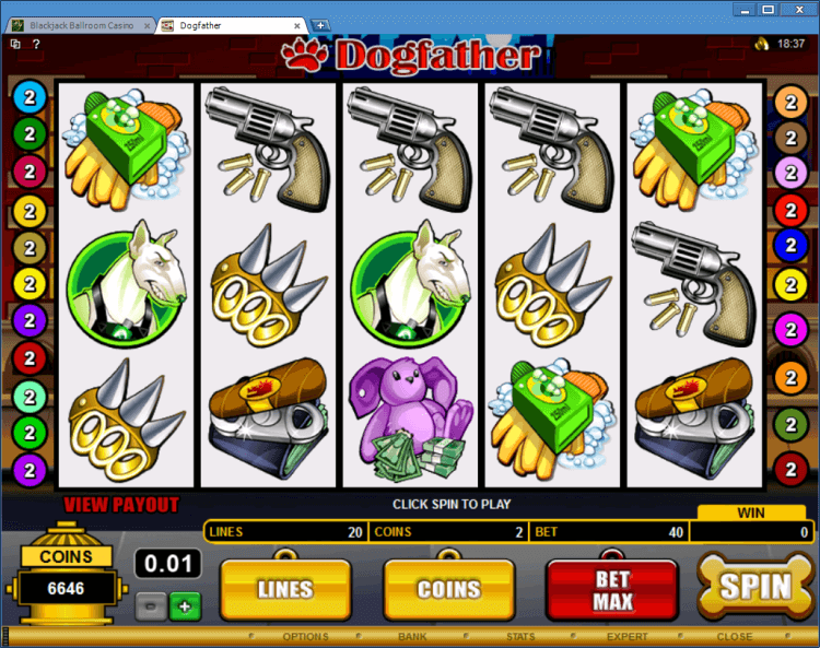 Bonus Slot DogFather online casino app BlackJack Ballroom