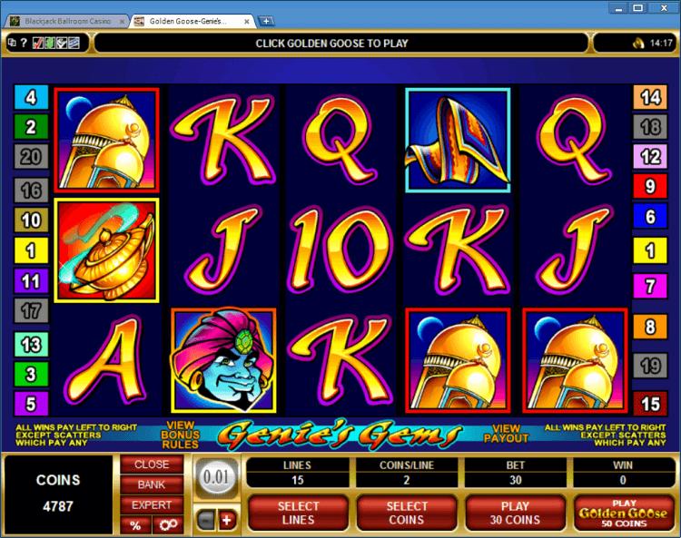 Bonus slot Golden Goose Genie's Gems online casino app BlackJack Ballroom
