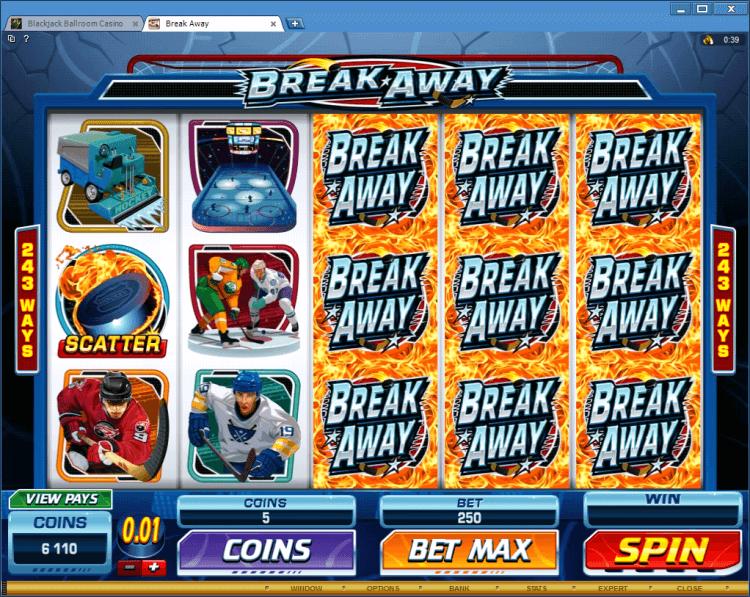 Break Away bonus slot online casino Black Jack Ballroom