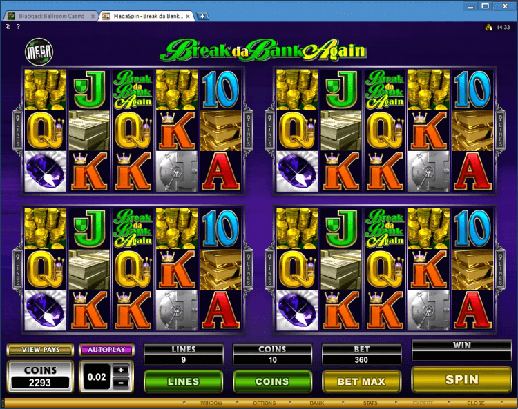 Break da Bank again Mega Spins BlackJack Ballroom online gambling casino