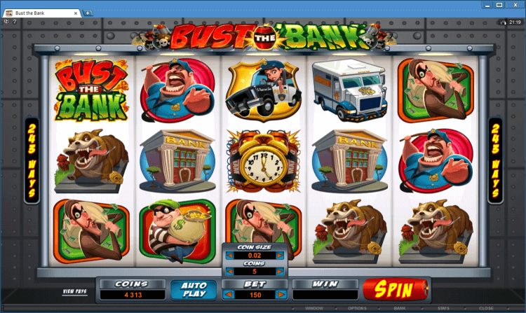 Bust the Bank slot Ballroom online casino app