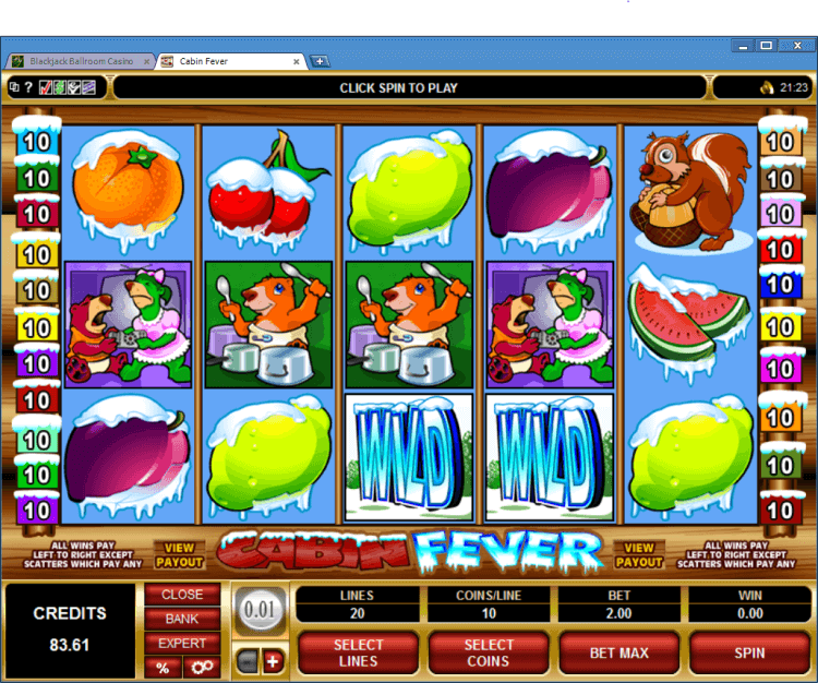 Cabin Fever regular video slots BlackJack Ballroom