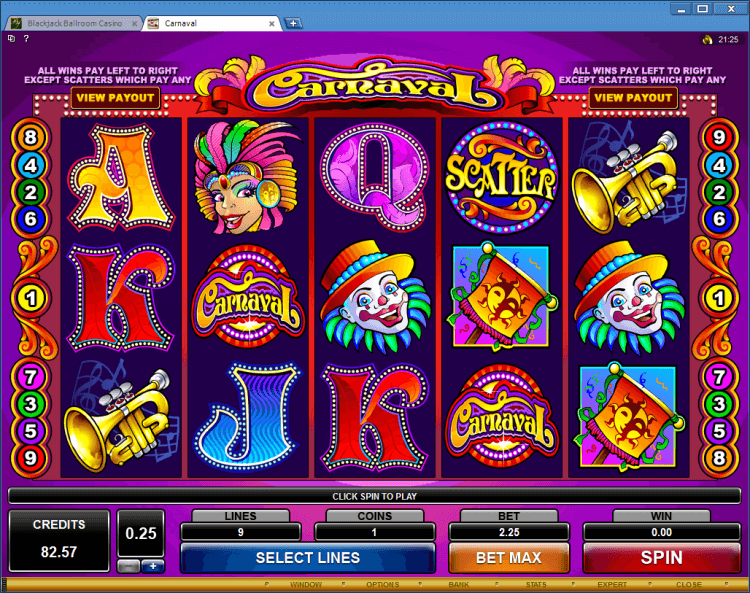 Carnaval regular video slot Ballroom Black Jack app