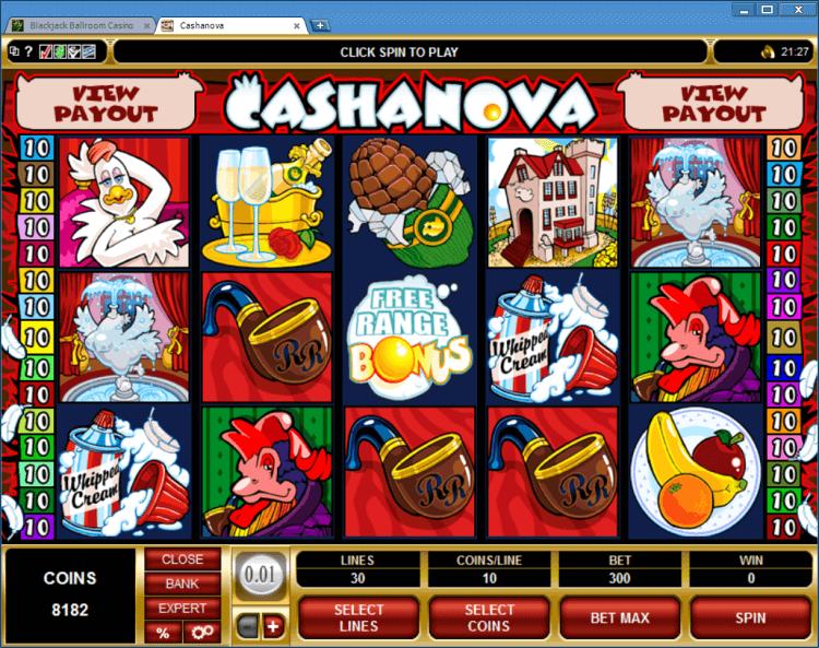 Cashanova bonus slot game BlackJack Ballroom online app