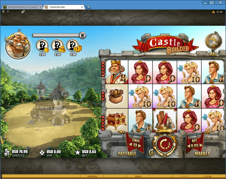 Castle Builder bonus slot BlackJack Ballroom online casino