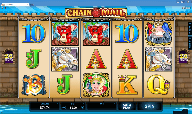 Chain Mail bonus slot BlackJack Ballroom online casino