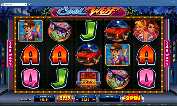 Cool Wolf online casino BlackJack Ballroom bonus slot