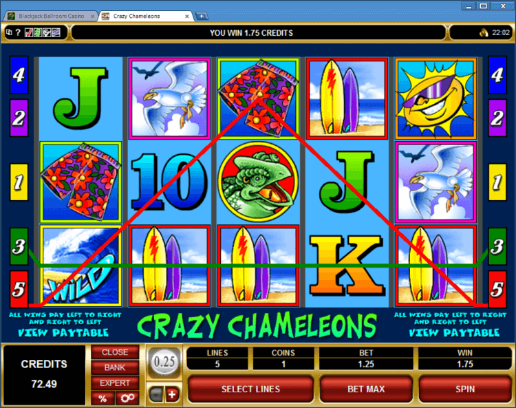 Crazy chameleons regular video slot BlackJack Ballroom online casino