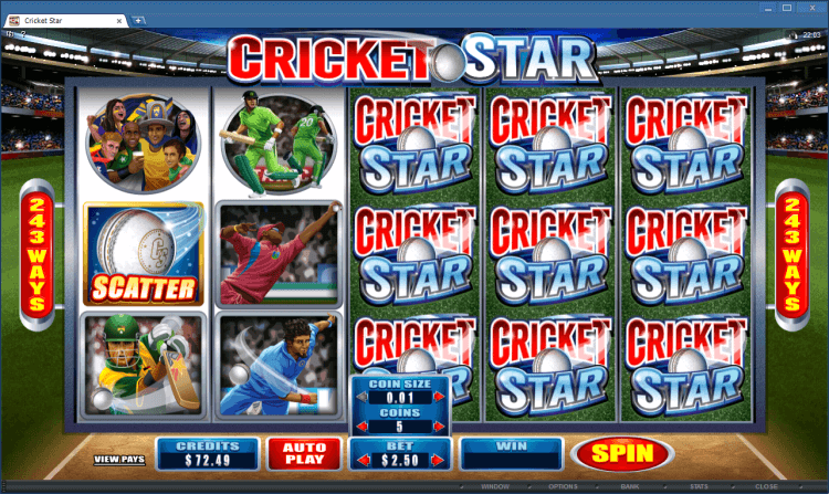 Cricket Star bonus game BlackJack Ballroom app