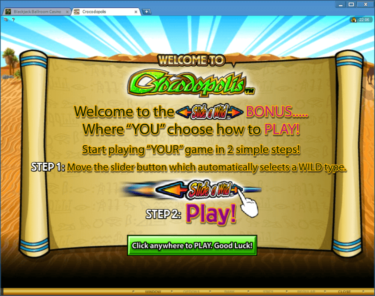 Crocodopolis regular video slot online casino application BlackJack Ballroom