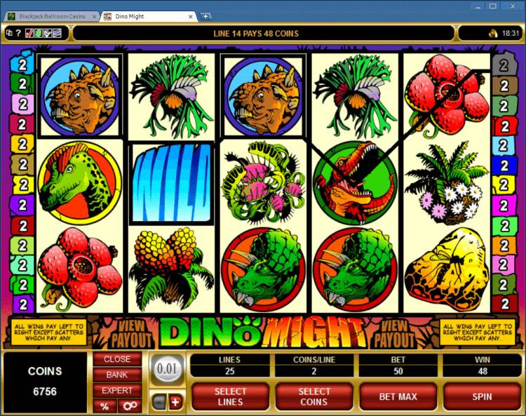 DinoMight bonus slot BlackJack Ballroom online app