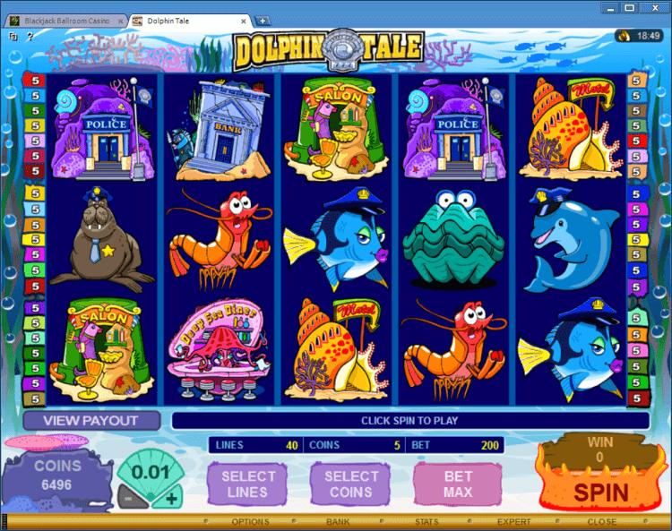 Dolphin Tale bonus slot BlackJack Ballroom online casino