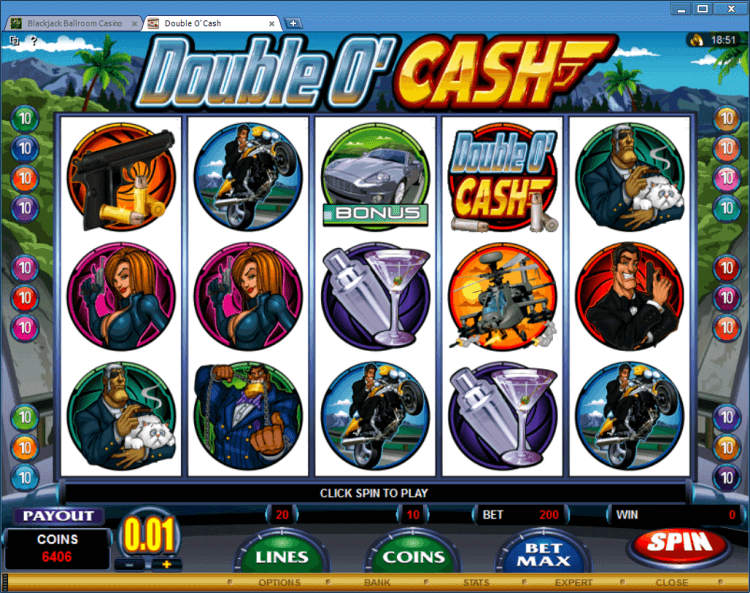 Double O'Cash bonus slot Ballroom online casino app BlackJack