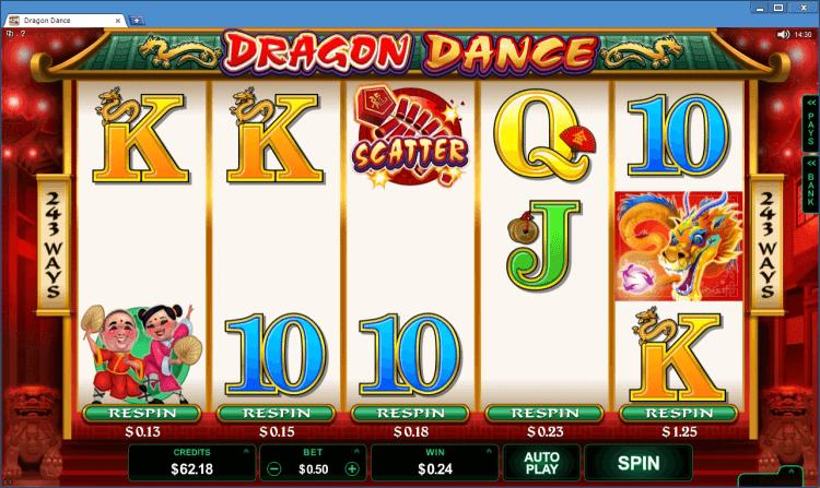 Dragon Dance regular video slot BlackJack Ballroom online casino