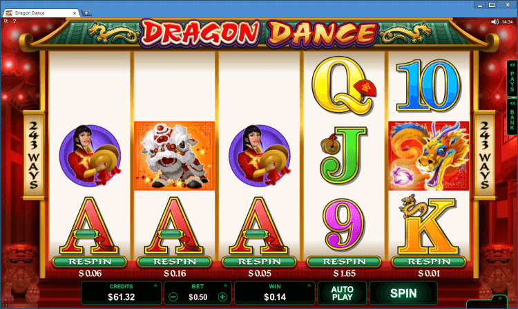 Dragon Dance regular video slot BlackJack Ballroom online casino