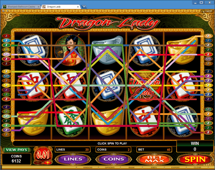Dragon Lady bonus slot BlackJack Ballroom online casino