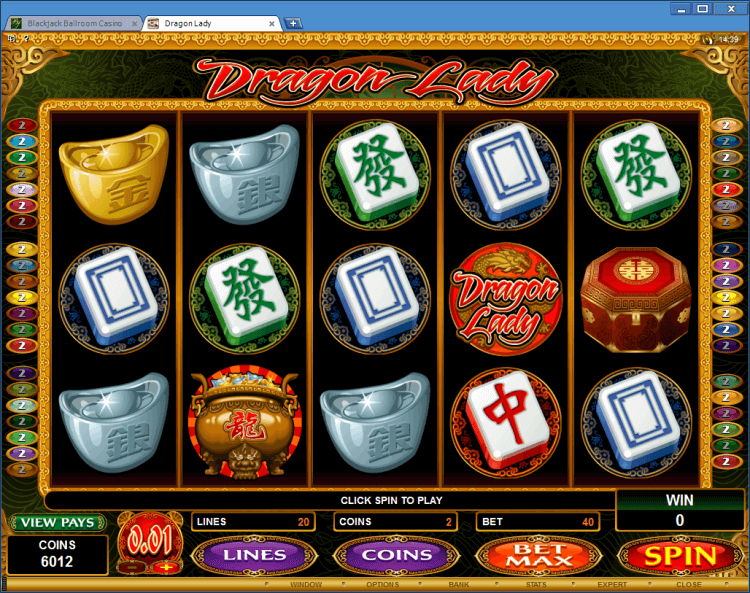 Dragon Lady bonus slot BlackJack Ballroom online casino