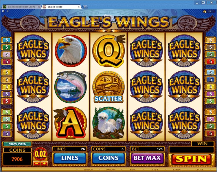 Eagles Wings bonus slot app online casino Blackjack Ballroom