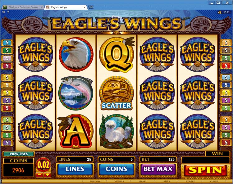 Eagles Wings bonus slot app online casino Blackjack Ballroom