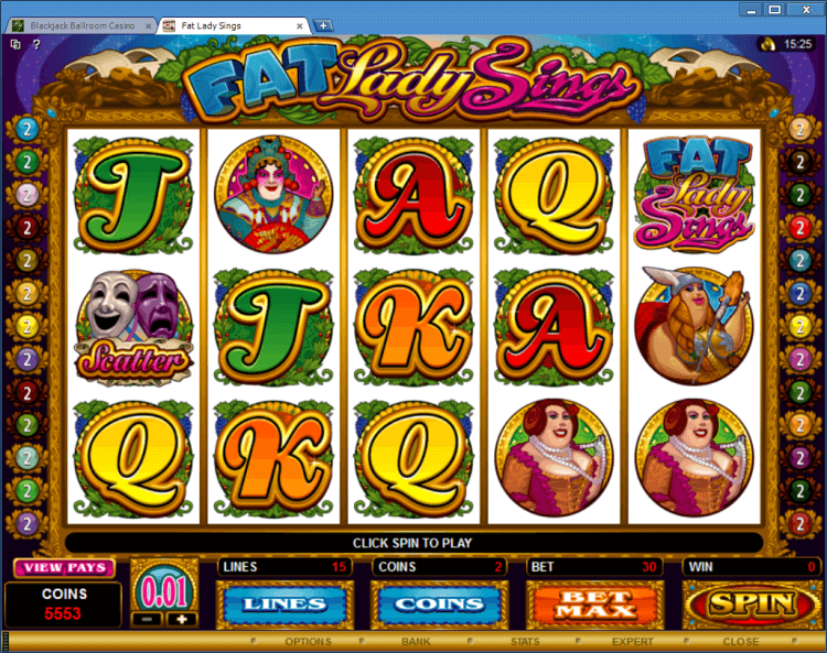 Fat Lady Sings bonus slot BlackJack Ballroom online casino app