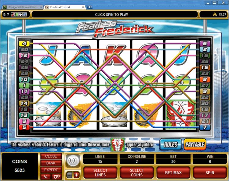 Fearless Frederick bonus slot online casino app BlackJack Ballroom