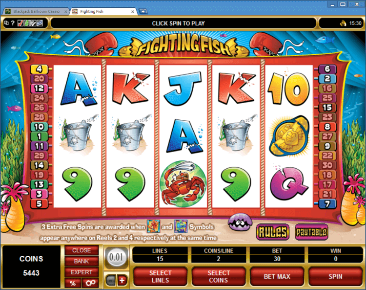 Fighting Fish bonus slot BlackJack Ballroom online casino app