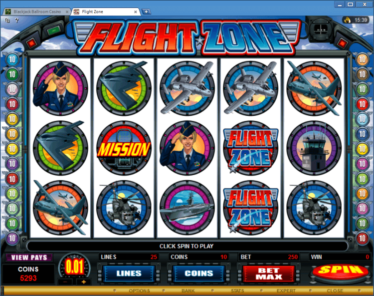 Flight Zone bonus slot BlackJack Ballroom online casino app