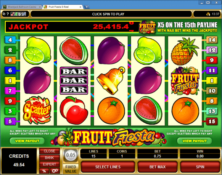 Fruit Fiesta progressive slot BlackJack Ballroom online casino app
