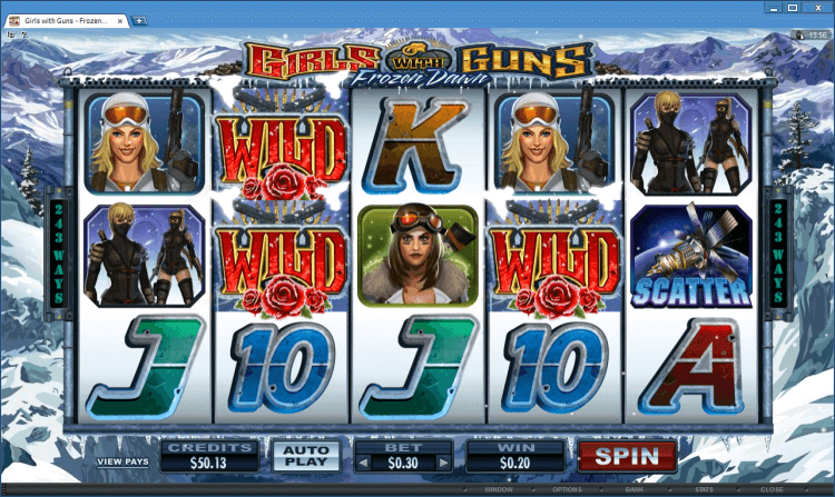 Girls with Guns – Frozen Dawn bonus slot BlackJack Ballroom