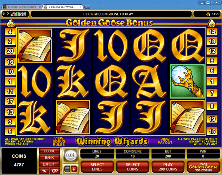 blackjack online casino wizards win