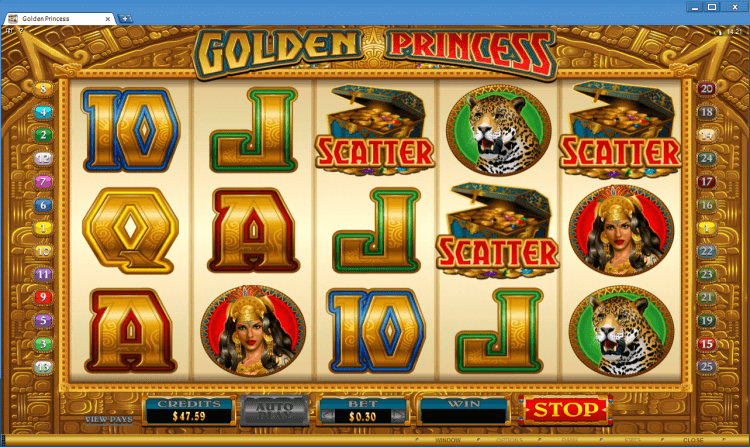 Golden Princess bonus slot BlackJack Ballroom online casino application