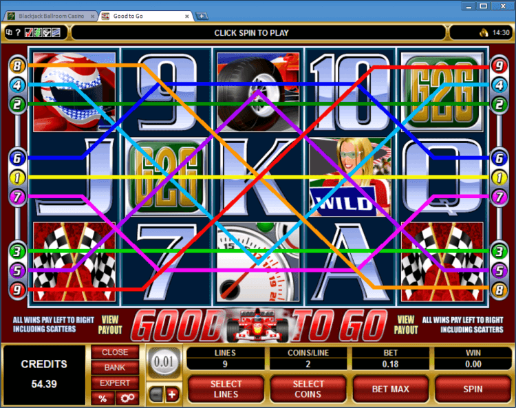 Good to Go regular video slot BlackJack Ballroom online casino