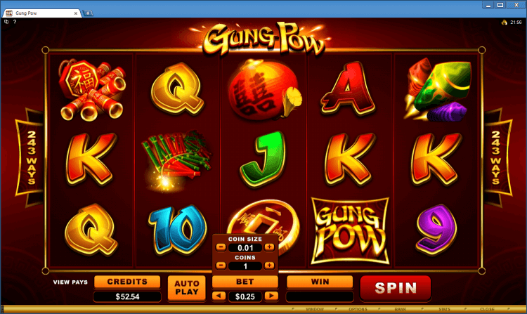 Gung Pow regular video slot BlackJack Ballroom online casino