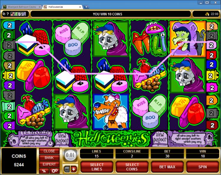 Halloweenies bonus slot online casino app BlackJack Ballroom