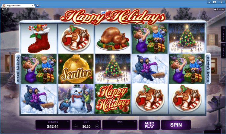 Happy Holidays bonus slot BlackJack Ballroom online casino