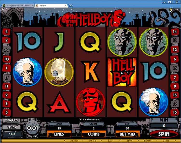 Hellboy bonus slot BlackJack Ballroom online casino