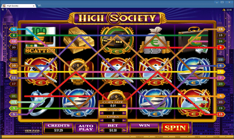 High Society bonus slot BlackJack Ballroom online casino application